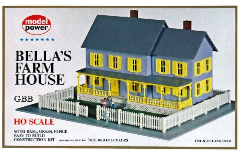 Ho 1 87 Scale Bella 39 S Farm House Kit Model Power New