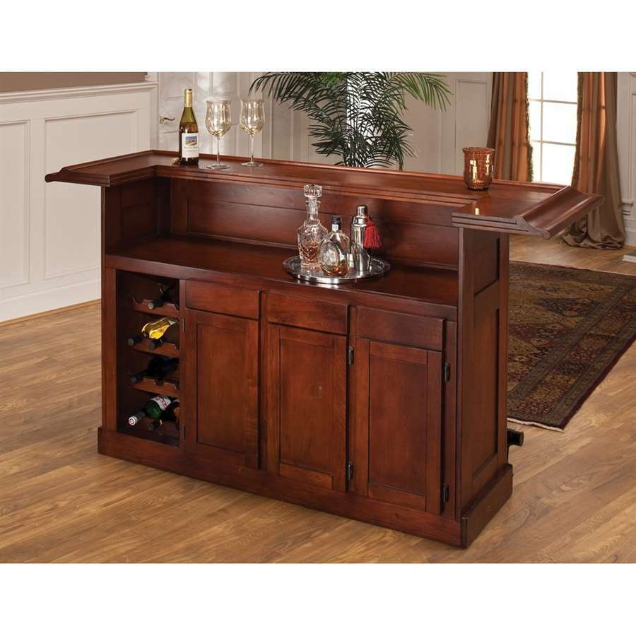 Hillsdale furniture classic large cherry bar in cherry finish 62578ache ebay Home bar furniture with kegerator