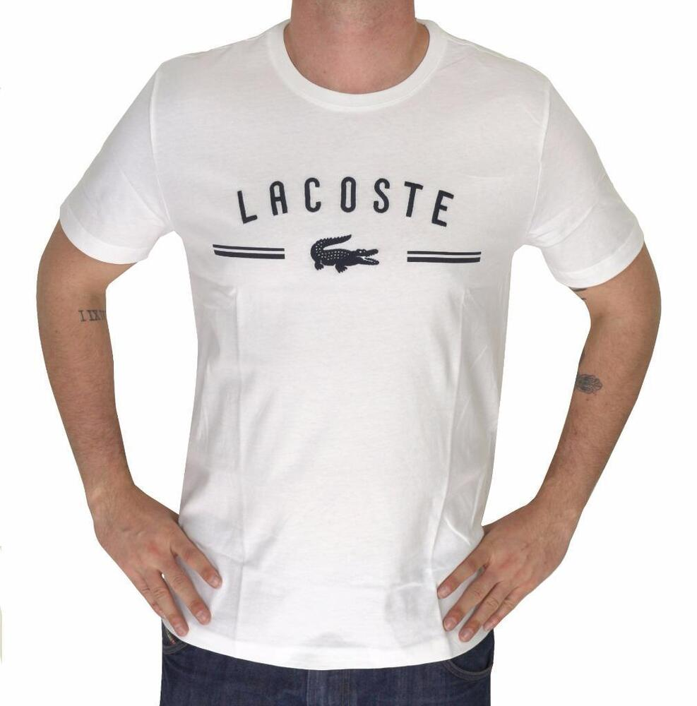 Brand new lacoste logo men 39 s premium cotton crew neck Premium t shirt brands