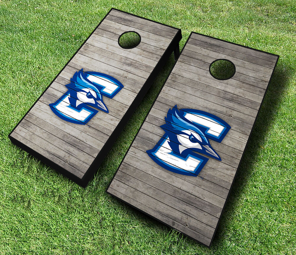 Creighton Blue Jays Distressed Cornhole Wraps Board Set