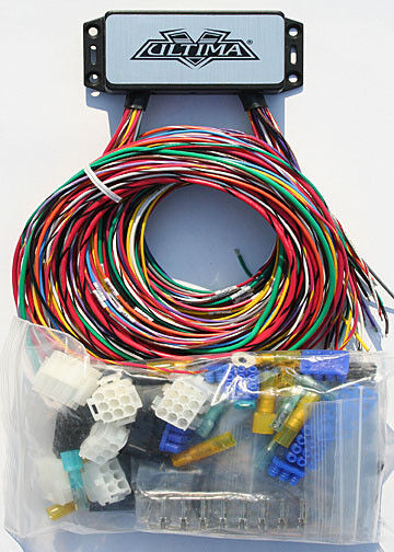 complete wiring harness ultima plus complete wiring harness kit harley chopper custom bobber 18 533