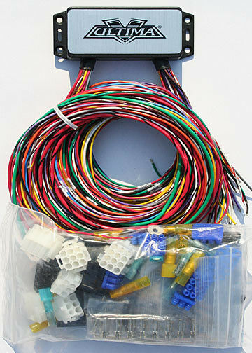 harley wiring harness motorcycle parts ultima plus complete wiring harness kit harley chopper custom bobber 18 533
