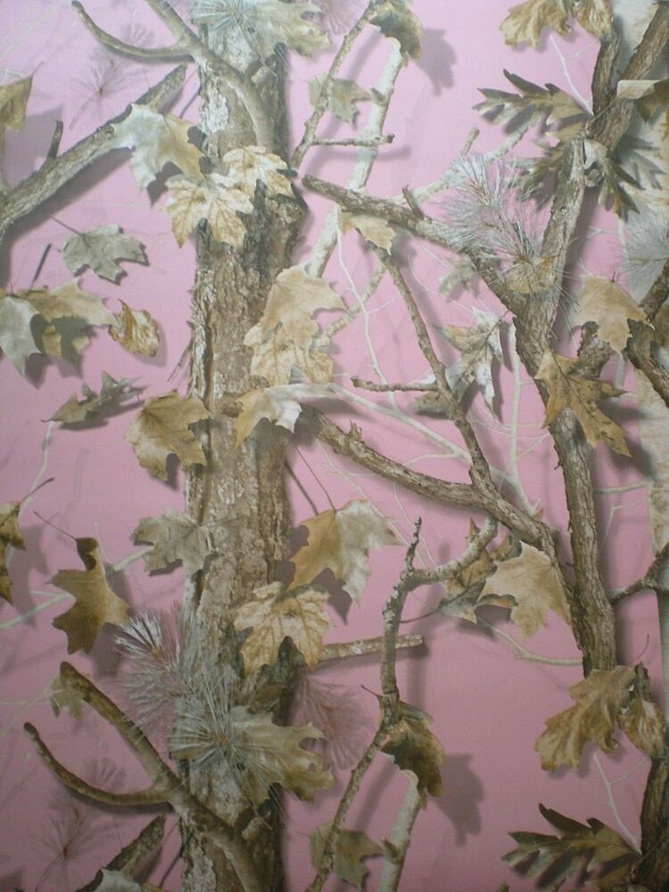 Realistic Sawgrass Pink Camo Forest Camouflage Wallpaper