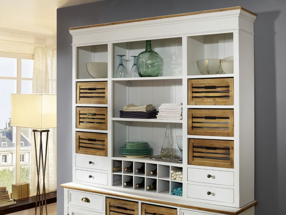 palina aufsatz f r buffet kommode schrank esszimmer k che wei lackiert ebay. Black Bedroom Furniture Sets. Home Design Ideas