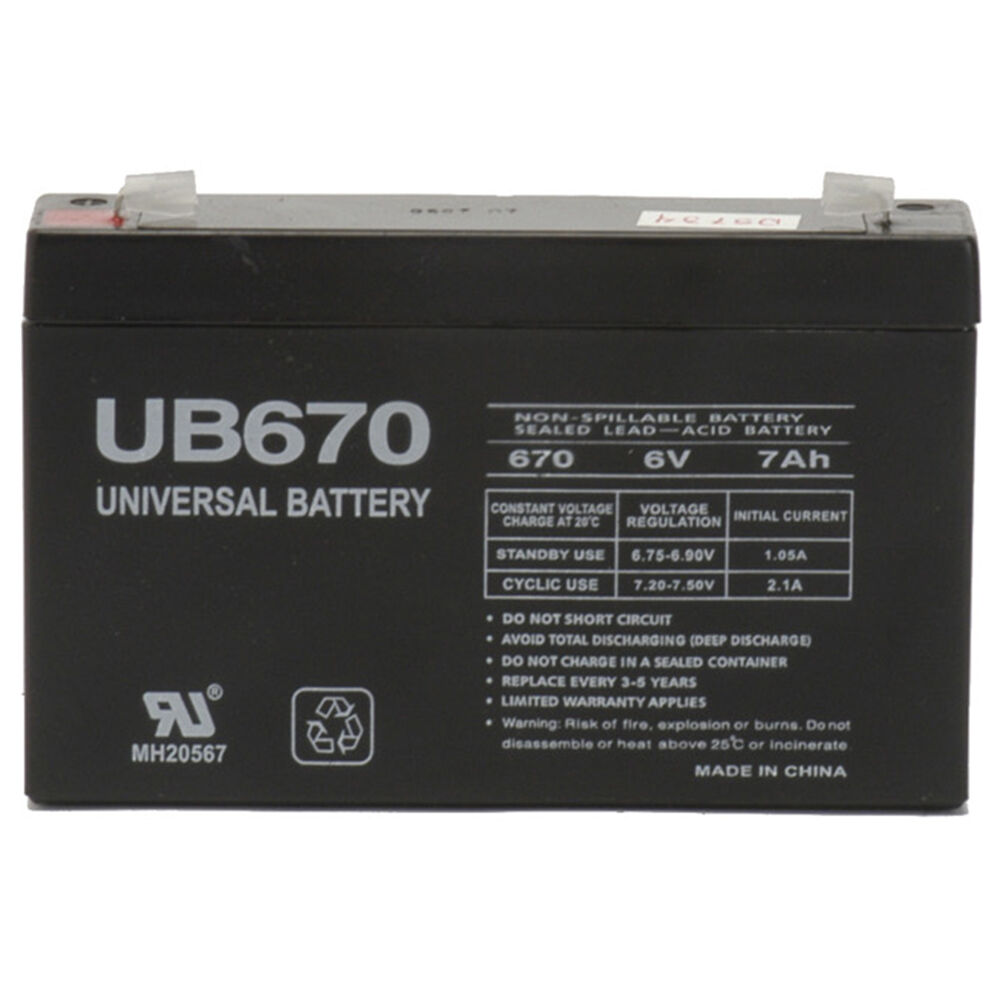 Upg 6v 7ah Sla Battery Replacement For Gallagher S17 Solar