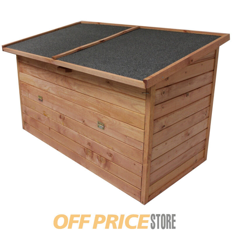 auflagenbox 128x77x72cm gartenbox holz truhe gartentruhe neu holztruhe holzkiste ebay. Black Bedroom Furniture Sets. Home Design Ideas