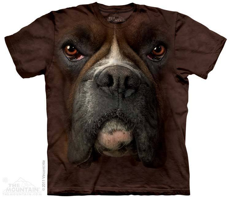 The mountain boxer dog face nature feirce ferocious animal for Dog t shirt for after surgery