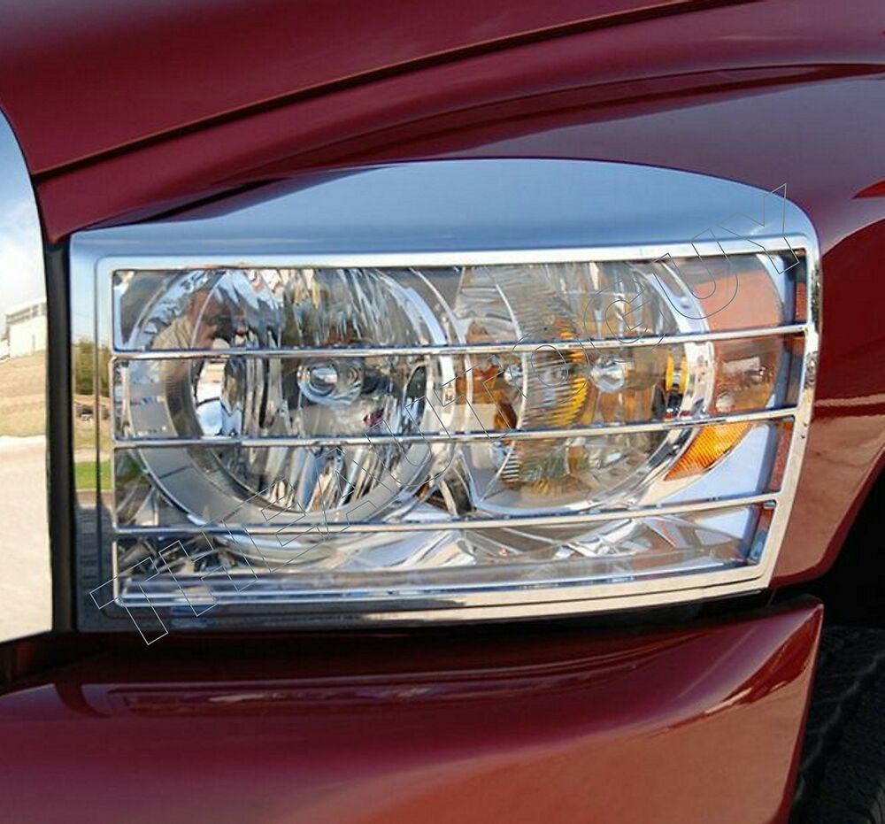 2006 2007 2008 dodge ram triple chrome plated headlight. Black Bedroom Furniture Sets. Home Design Ideas