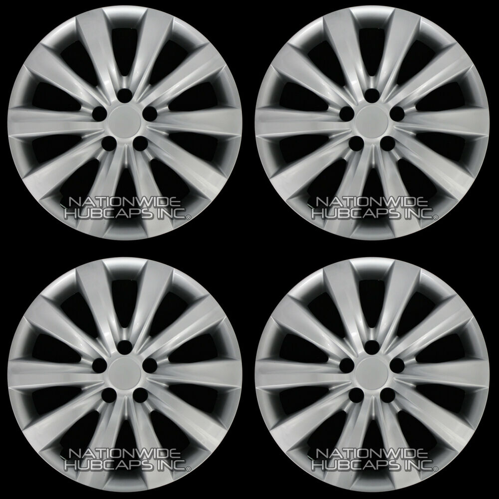 4 new 09 15 toyota corolla 16 wheel covers rim tire hub caps with steel clips ebay