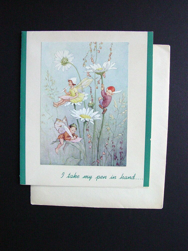 #G921 Unused Margaret W. Tarrant Birthday Greeting Card