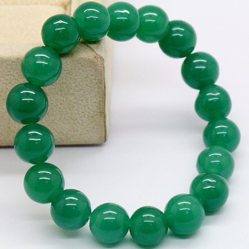 Green 100 natural jade jadeite round gemstone beads for Pictures of jade jewelry