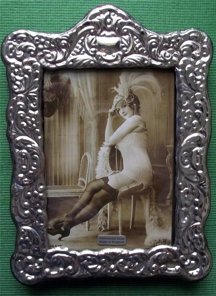 Large Roccoco Art Nouveau Hallmarked Silver Photo Frame