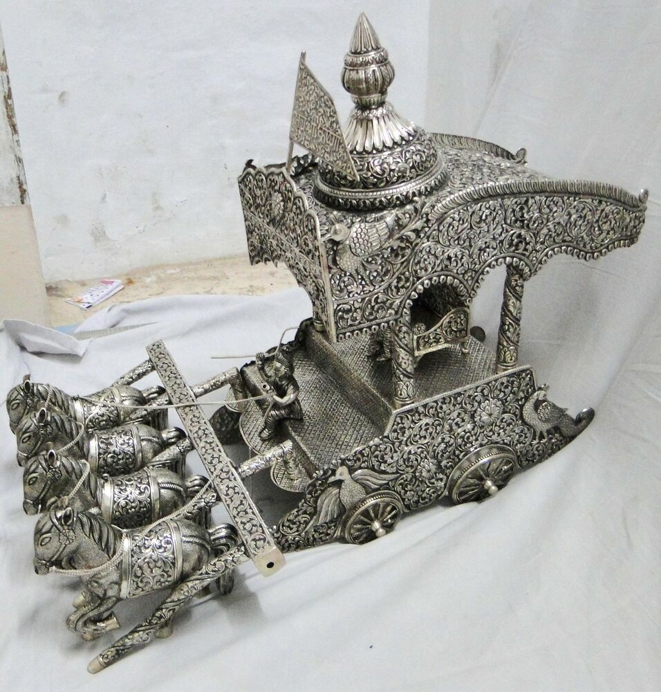 Fabulous! Handcrafted Mahabharata Solid Silver Shree