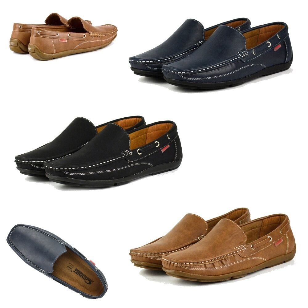 s340 mens casual slip on leather lined formal loafers