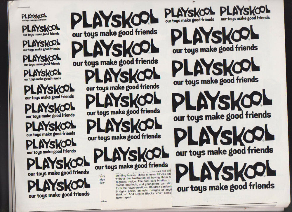 Playskool Our Toys Make Good Friends Ad Booklet 1970s Holiday Inn Lincoln Logs Ebay