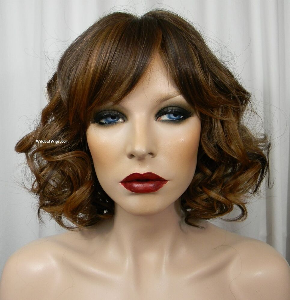 Human Hair Blend Scent Wig From Sepia Color H27 4 30
