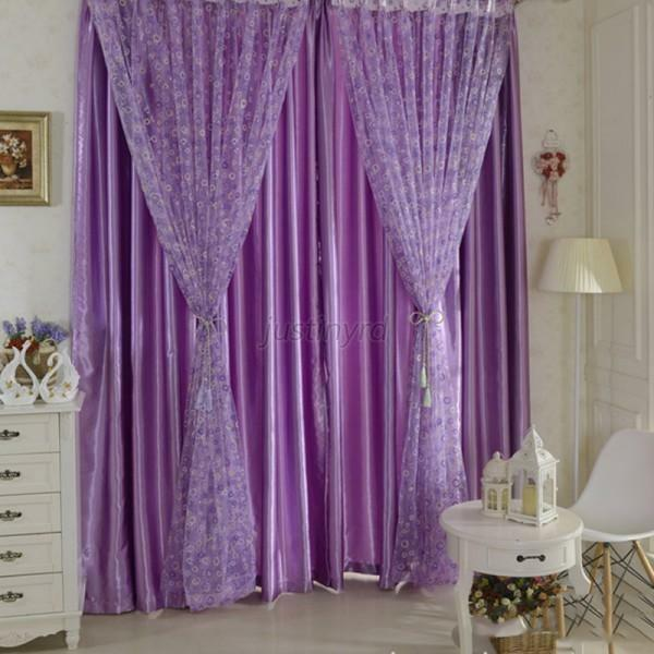 New Circle Pattern Room Voile Window Curtains Sheer Panel