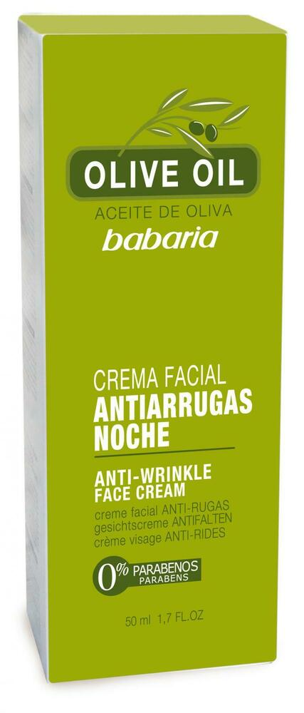 babaria olive oil anti wrinkle night cream 50ml ebay. Black Bedroom Furniture Sets. Home Design Ideas