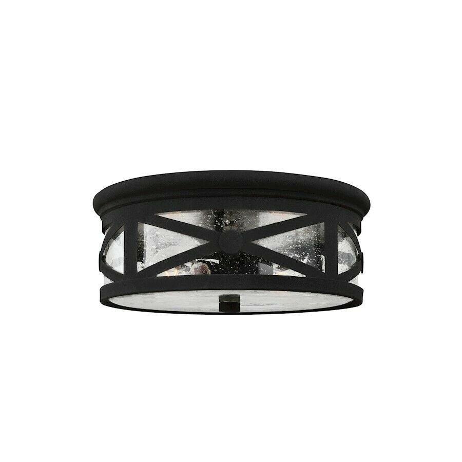 Sea Gull Lighting Lakeview Two Light Outdoor Ceiling Flush