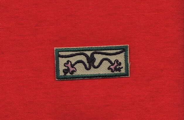 Wood badge knot patch