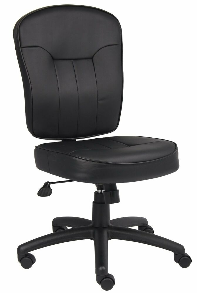 boss office products black leather task chair b1560 new ebay