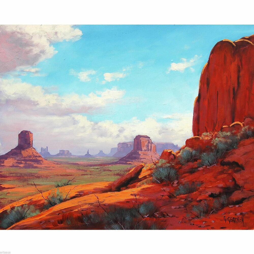 Desert Painting Arizona Utah Monument Valley Landscape