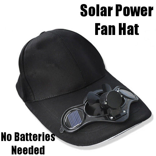 Sun Powered Solar Power Ballcap Cap Solar Energy Power Fan