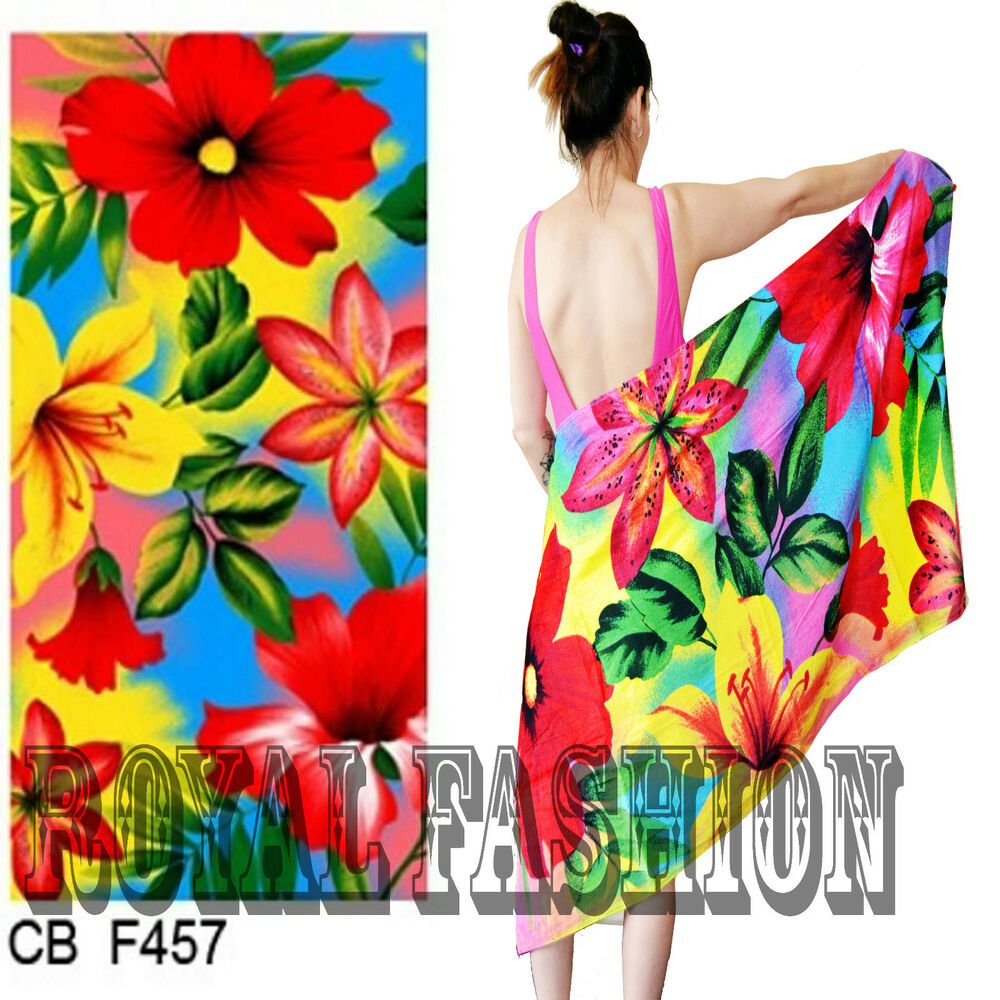 Spa Towels By Kassafina: Beach Bath Towel 100%Cotton BEAUTY FULL FLORAL FLOWER