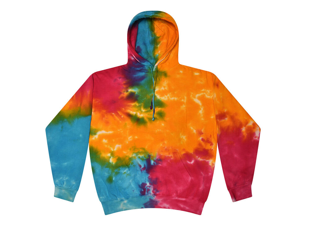 tie dye hoodies multi color kids youth xs l long sleeve. Black Bedroom Furniture Sets. Home Design Ideas