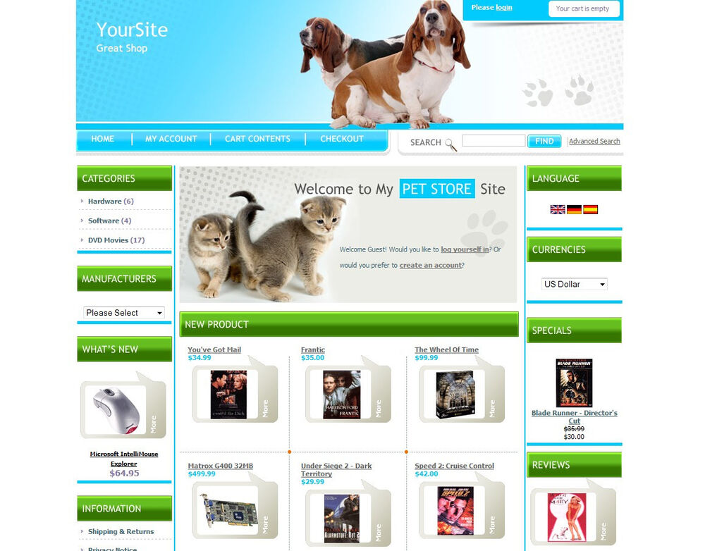 pet store business website for sale sell cats dogs birds