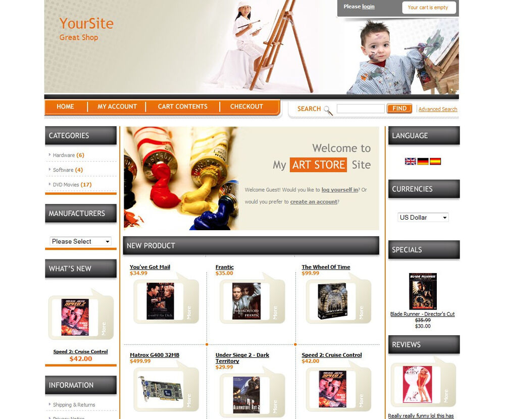 Professional ecommerce online store shopping cart website for Online websites for shopping