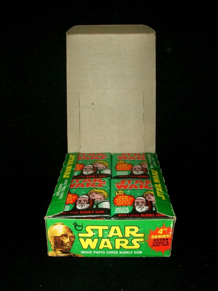 *RARE* 1977 TOPPS STAR WARS SERIES 4 UNOPENED *36 PACKS ...