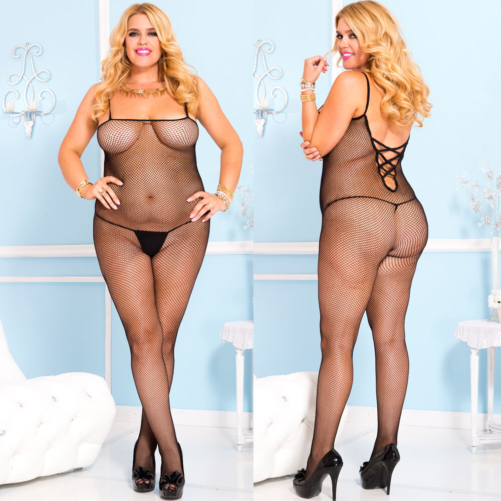 Fishnet lingerie queen size