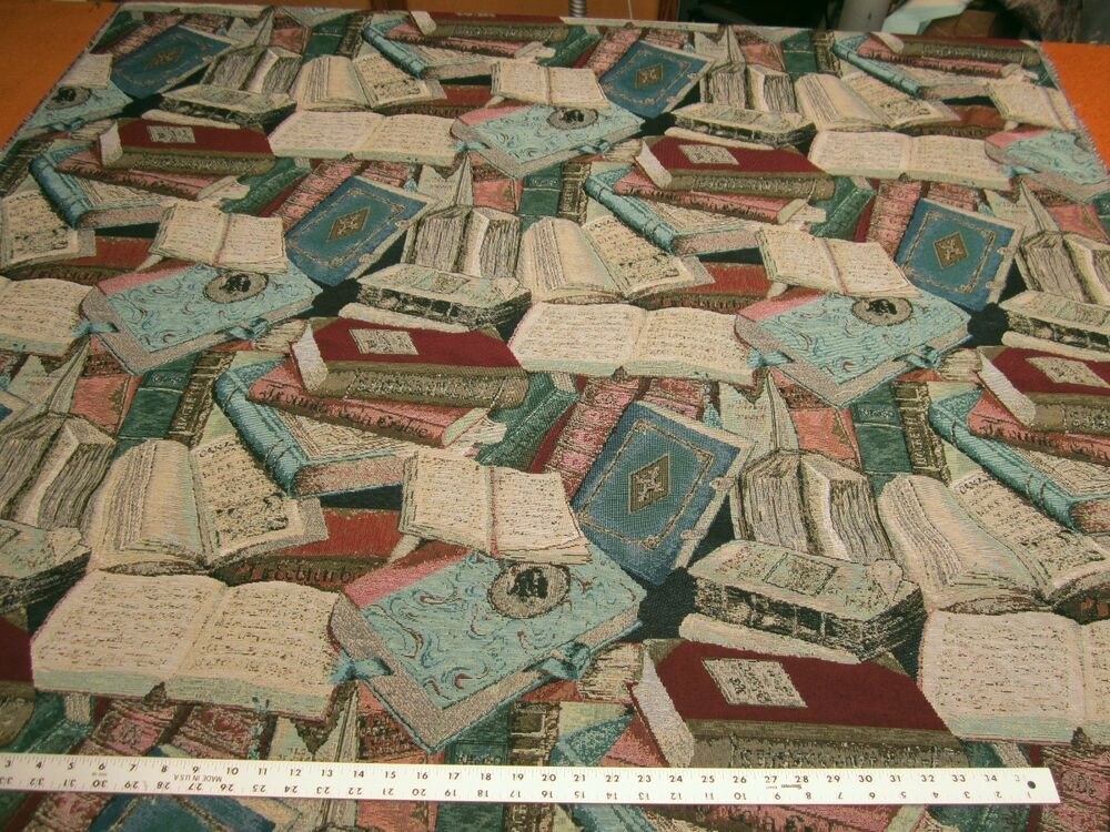 Regal Literary Guild Books Tapestry Upholstery Fabric Per