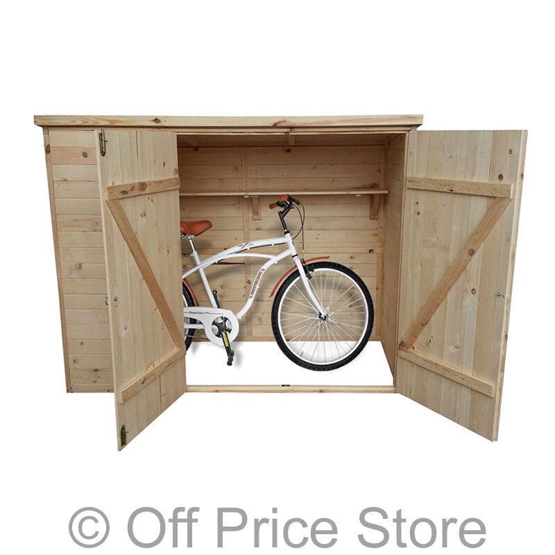 fahrradschuppen holz ger tehaus ger teschuppen gartenhaus schuppen ger teschrank ebay. Black Bedroom Furniture Sets. Home Design Ideas