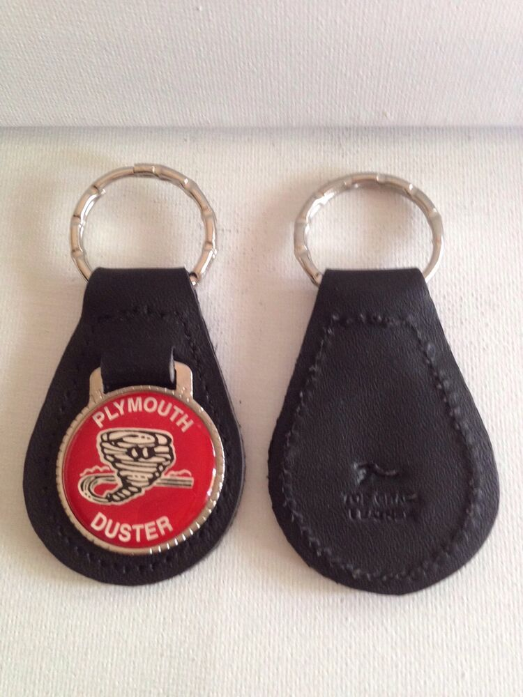 plymouth duster keychain leather key chain ebay. Black Bedroom Furniture Sets. Home Design Ideas