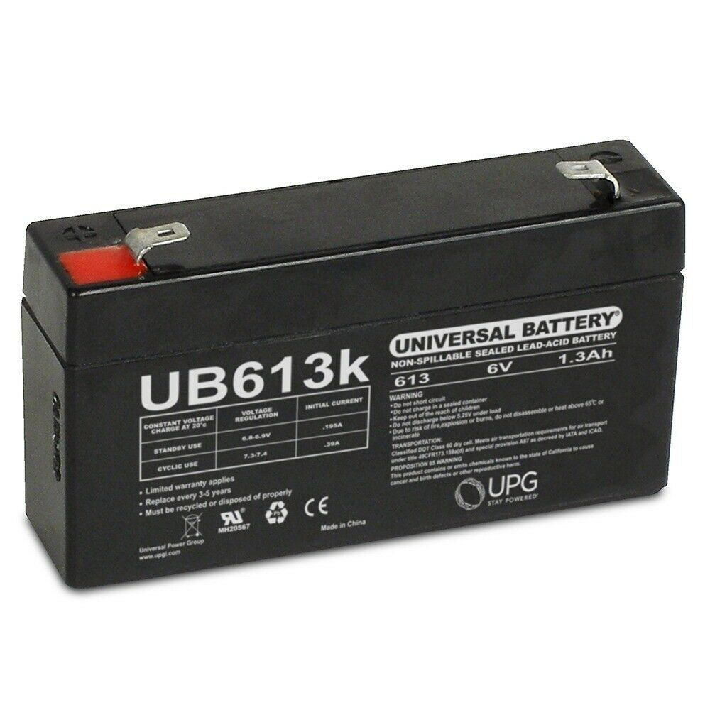 upg ub6131 ub613 agm battery sealed lead acid 6 volt. Black Bedroom Furniture Sets. Home Design Ideas