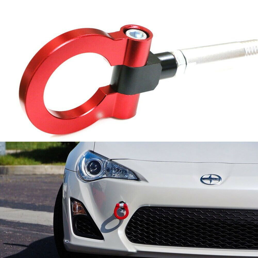 Sports Red Track Racing Style CNC Aluminum Tow Hook For