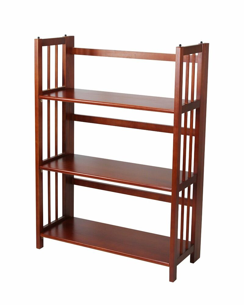 """Casual Home 3 Tier Folding Stackable Bookcase 27.5"""" Wide"""