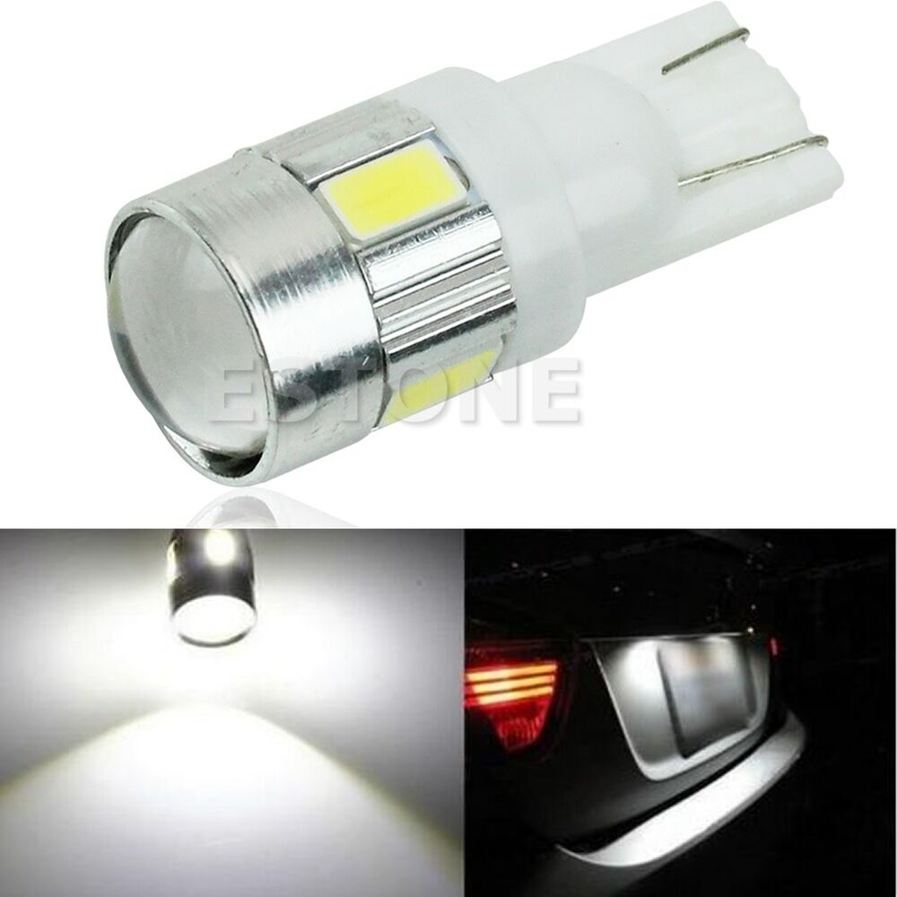 HID White T10 W5W 5630 6-SMD Car Auto LED Light Bulb Lamp ...