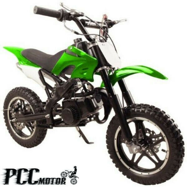 FREE SHIPPING KIDS 49CC 2 STROKE GAS MOTOR DIRT MINI POCKET BIKE GREEN H DB50X | eBay