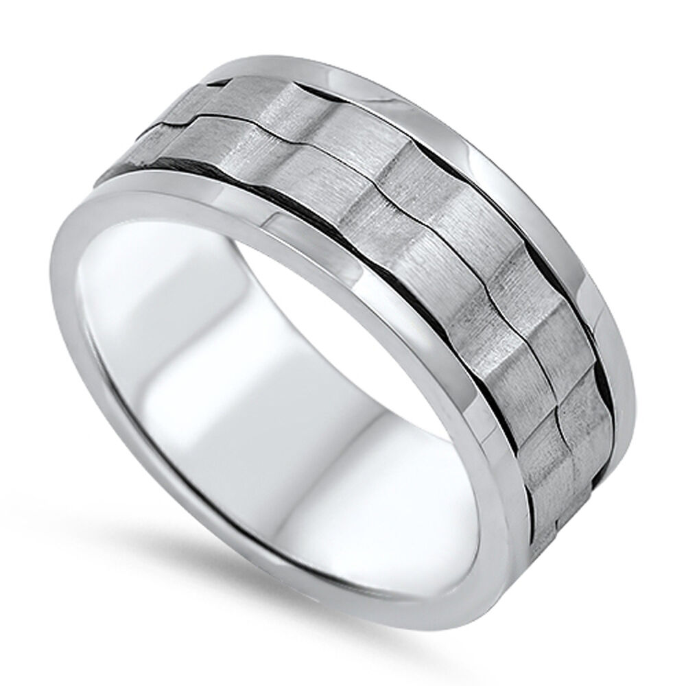 spinner s wedding ring 316l stainless steel gear