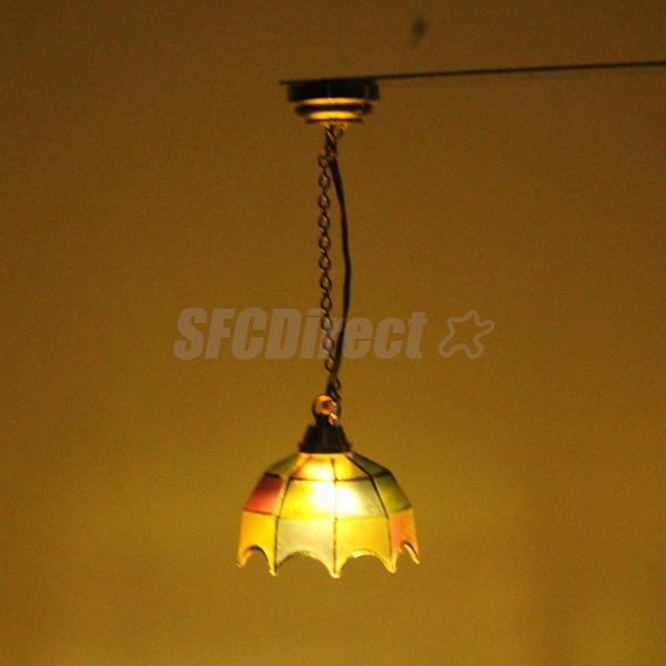 Dollhouse Miniatures Battery Lights: DOLLHOUSE MINIATURE CEILING LED LIGHTING COLORED Shade