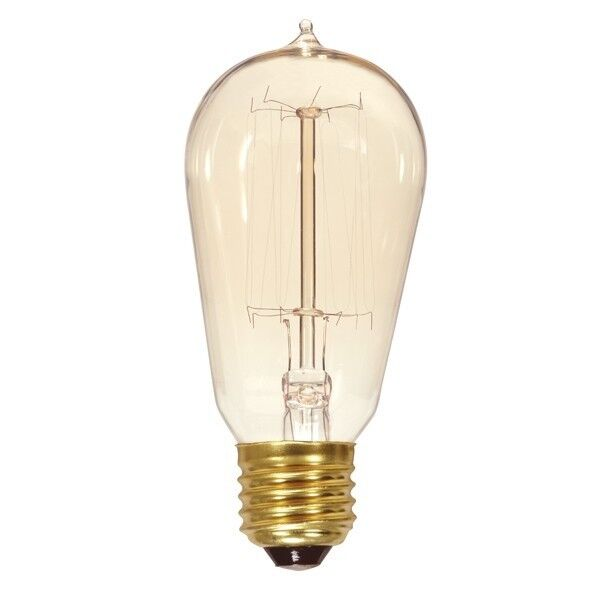 Newhouse Lighting 40w Equivalent Incandescent St19: SATCO S2423 60W ST19 Vintage Incand. Lamp