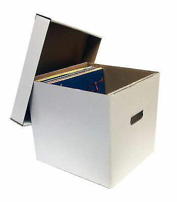 4 New 33 1 3 Rpm Album Record Storage Boxes White 12