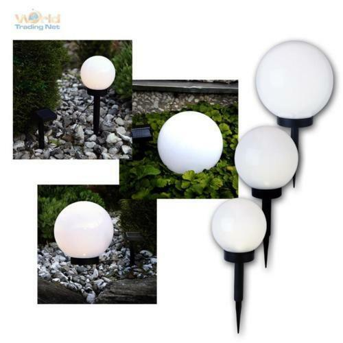 led luce sferica lampada solare a sfera da giardino ebay. Black Bedroom Furniture Sets. Home Design Ideas