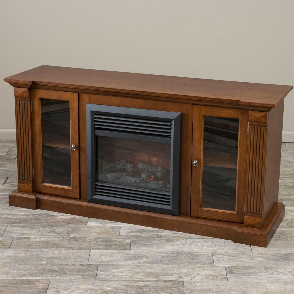 Indoor Electric Fireplace Heater Insert And Mantel Tv