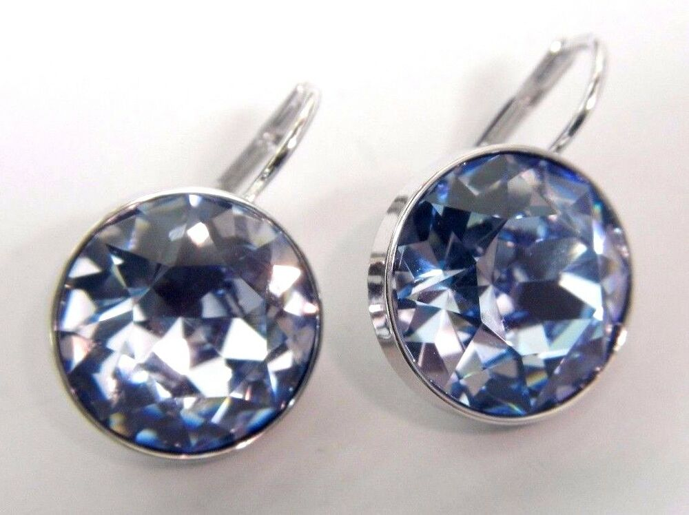 Bella Light Sapphire Crystal Pierced Earrings 2015