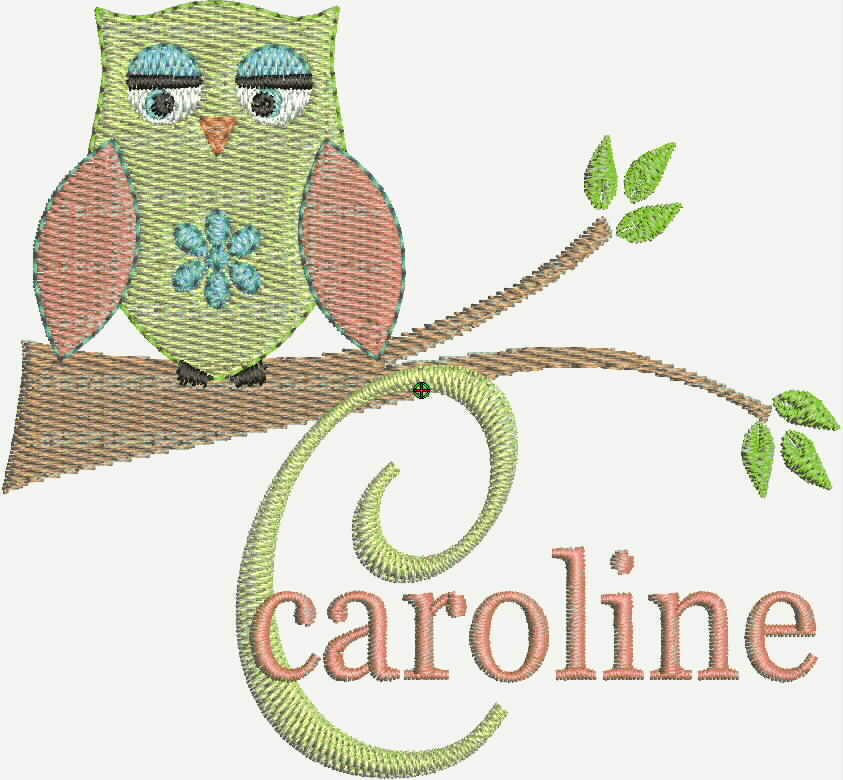 owl machine embroidery designs fonts new pes cd brother bernina singer