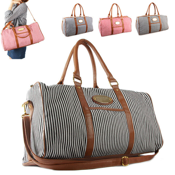 Womens Weekend Bag Top Selected Products and Reviews CAMTOP Weekend Travel Bag Ladies Women Duffle Tote Bags PU Leather Trim Canvas Overnight Bag by CAMTOP In Stock. Price: Price: $